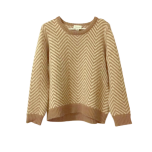 Ganni Anthropologie Pull Over Chevron Sweater