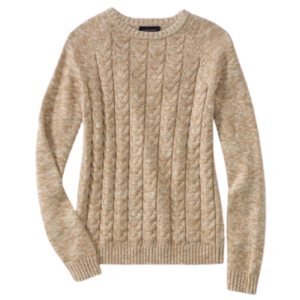 Lands' End Drifter Tan Sweater