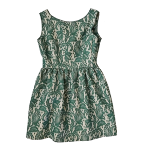 Zara Green Lace Tulip Dress