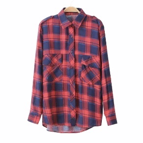 Zara Plaid Checked Top