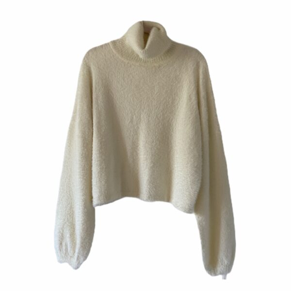 Nordstrom White Fuzzy Sweater