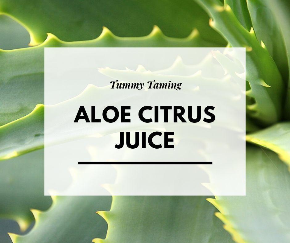 Recipe – Aloe Citrus Bloat Buster