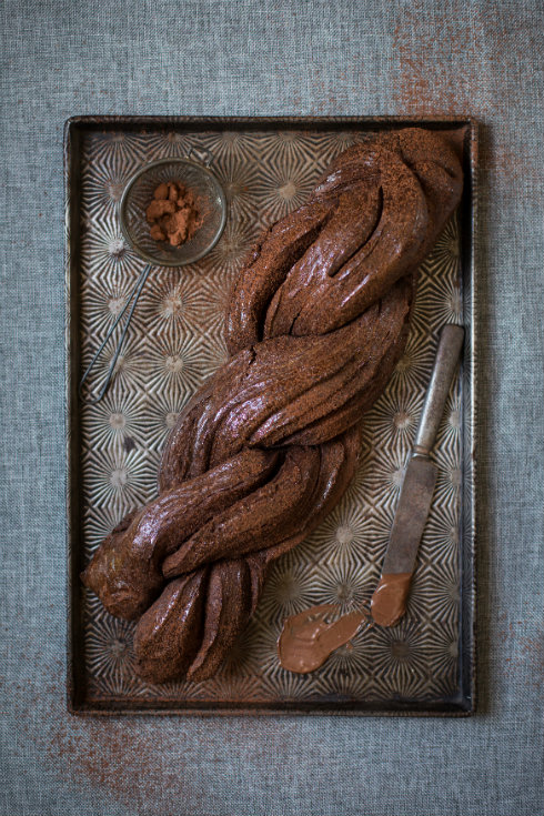Dark and moody, buttery and decadent chocolate brioche with Nutella (photography by Tasha Seccombe, styling by Nicola Pretorius)