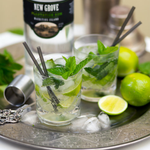 Mojitos with white rum, lime, mint & soda (photography by Tasha Seccombe)