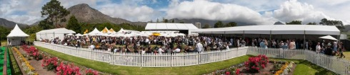 A panoramic view of the champagne festival in Franschhoek (image supplied by Tribeca PR)