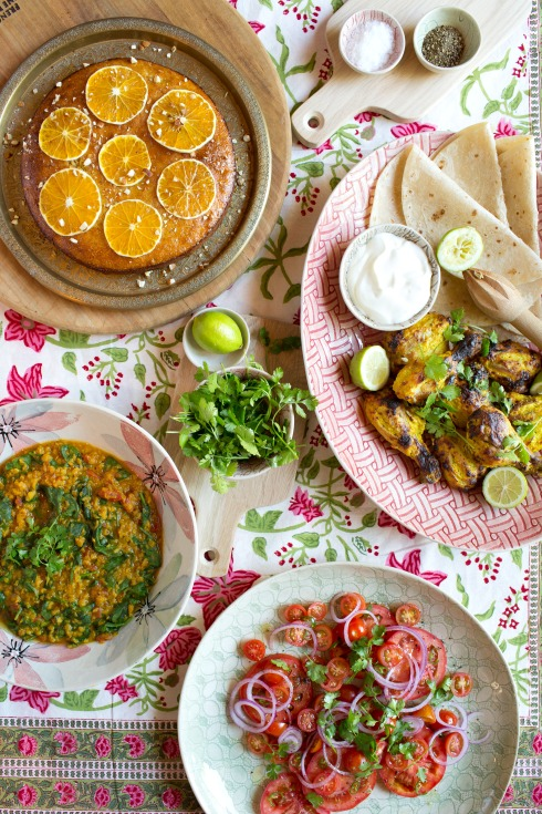 "A festive table loaded with delicious dishes out of ""Share: The Cookbook"" (photography by Tasha Seccombe)"