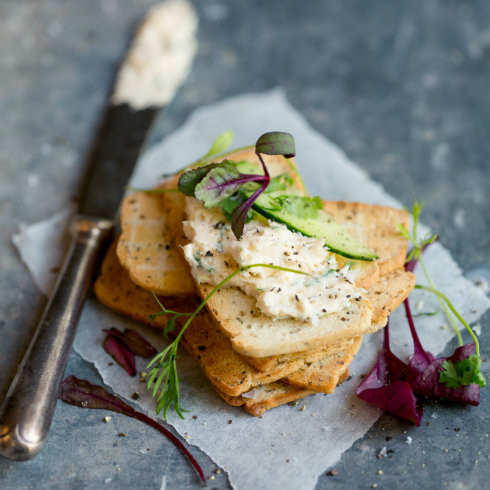 Trout mousse on melba toast (photography by Tasha Seccombe)