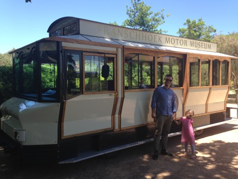 The beautiful vintage tram - our ride for the trip to the Manor House and L'Ormarins.