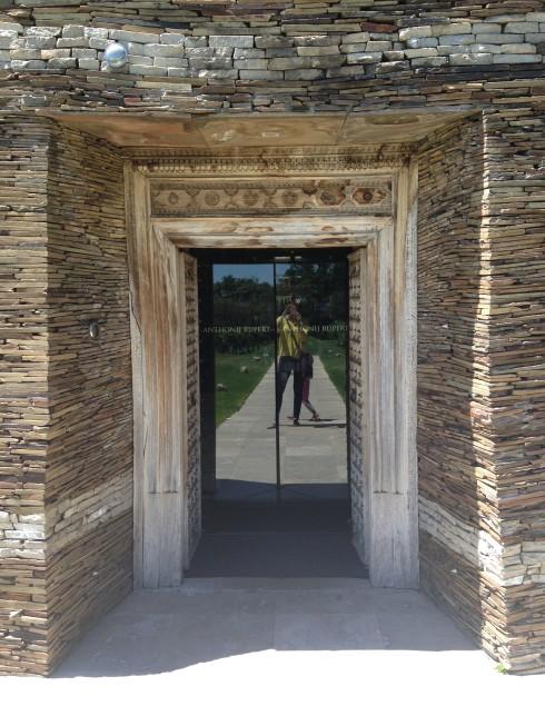 The exotic entrance to Anthonij Rupert Wine's Terra Del Capo tasting room.