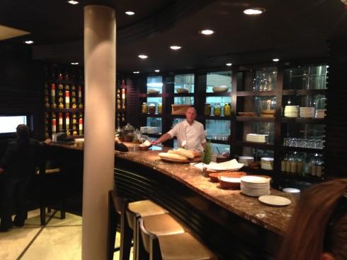 The tapas prep area at Terra del Capo's tapas restaurant.