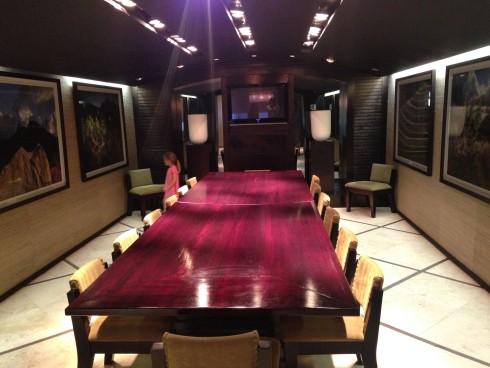 The private boardroom / dining room / tasting room at Terra del Capo.
