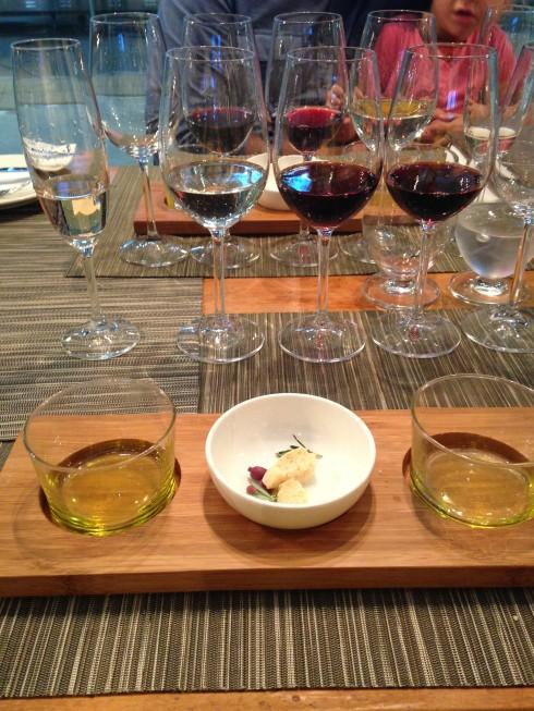 Olive oil and wine tasting at Terra del Capo.
