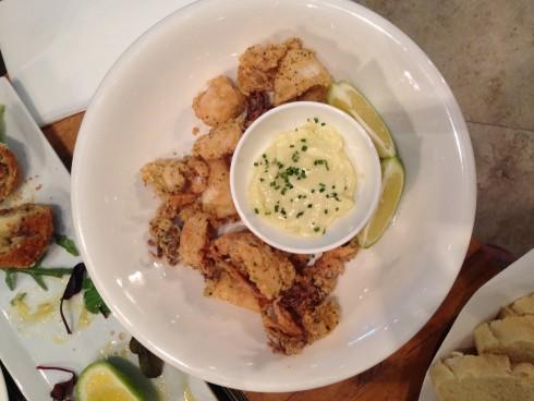 Fried calamari with lemon & chive aioli at Terra del Capo tapas restaurant.