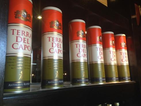 Terra del Capo wine gift boxes.