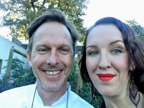 Chef Christiaan Campbell, nice enough to pose for a selfie with me.