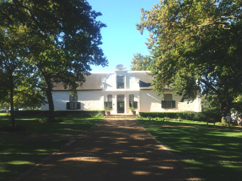 The beautifully restored manor house at Boschendal.