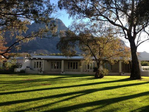 The Orchard cottages on Boschendal Farm, perfect for outdoor lovers and mountain bike fanatics.