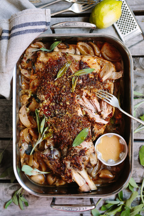 The ultimate 80-hour spiced pork shoulder, falling from the bone, ready to feed a festive crowd (photography by Tasha Seccombe)