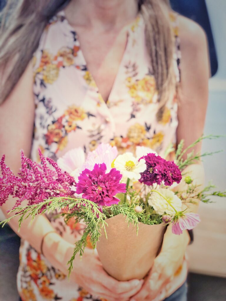 Monday Drive: pretty flowers from the farmers market