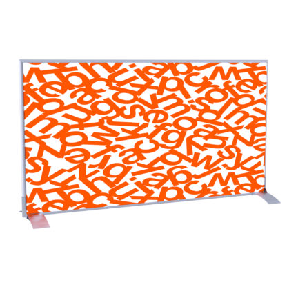 Paperflow easyScreen Horizontal Divider Screen, Orange Alphabet