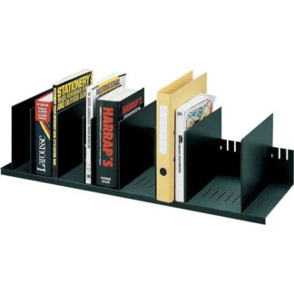 "Paperflow Individualized Vertical Organizer, 31-4/7"" W, Black"