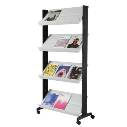 Paperflow easyDisplay Single Sided XL Literature Display, Grey