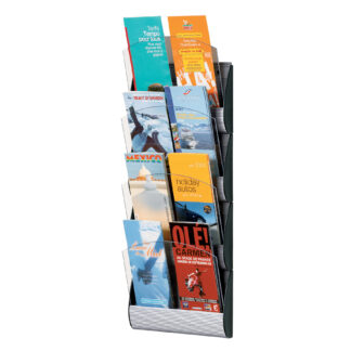 Paperflow Maxi System Wall Mounted Literature Display, Four Pockets, 1/3 Letter