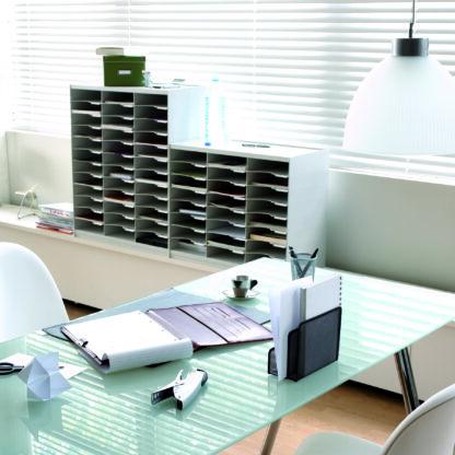 Paperflow Master Literature Organizer, 24 Compartment, Grey