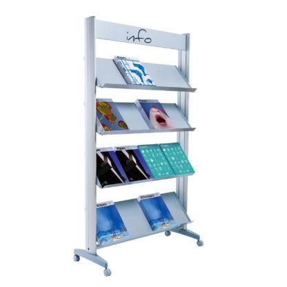 "Paperflow Single Sided ""XL"" Literature Display, Metal Shelves"
