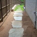 Walkway Embedded with Flagstone
