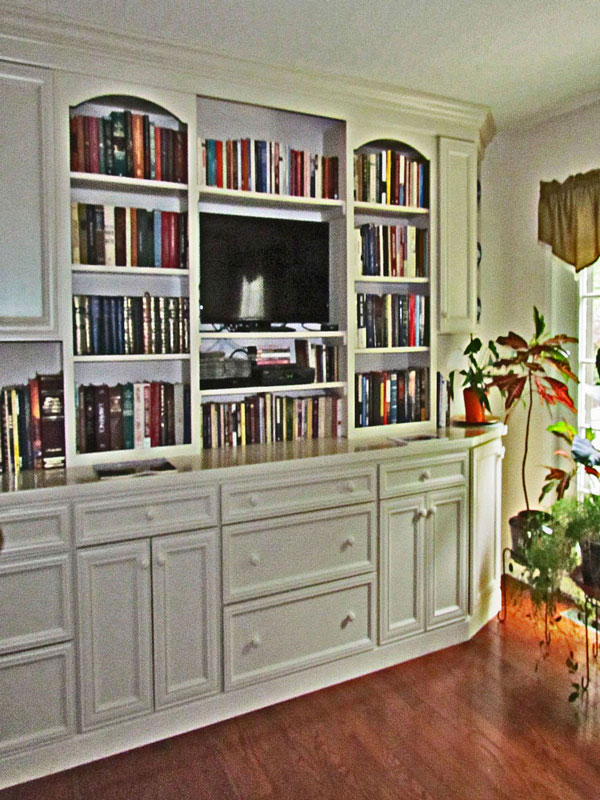 Nice Living Room Finished Shelving