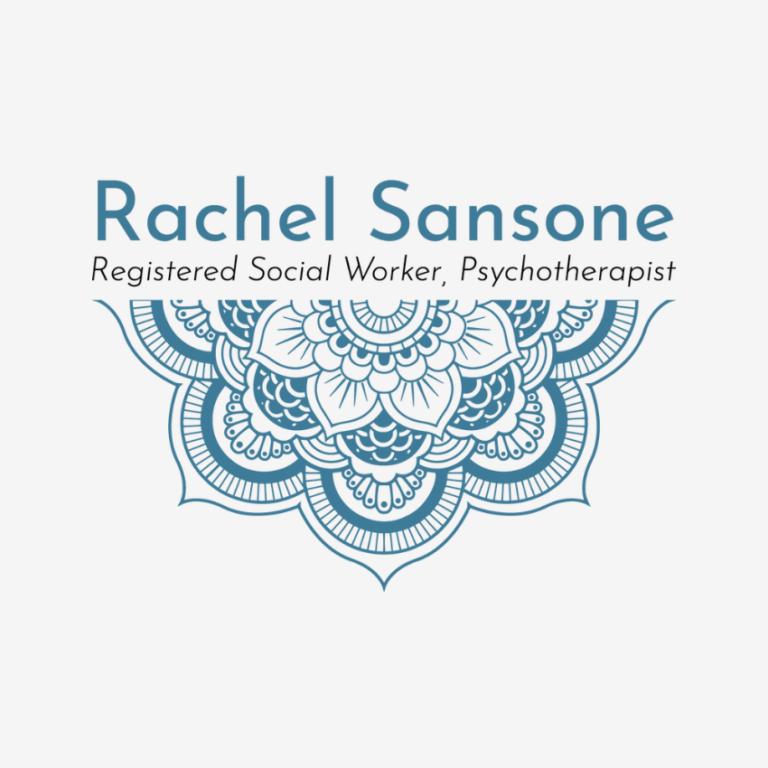 Rachel Sansone Logo. By Raine Gould of Grn. Marketing
