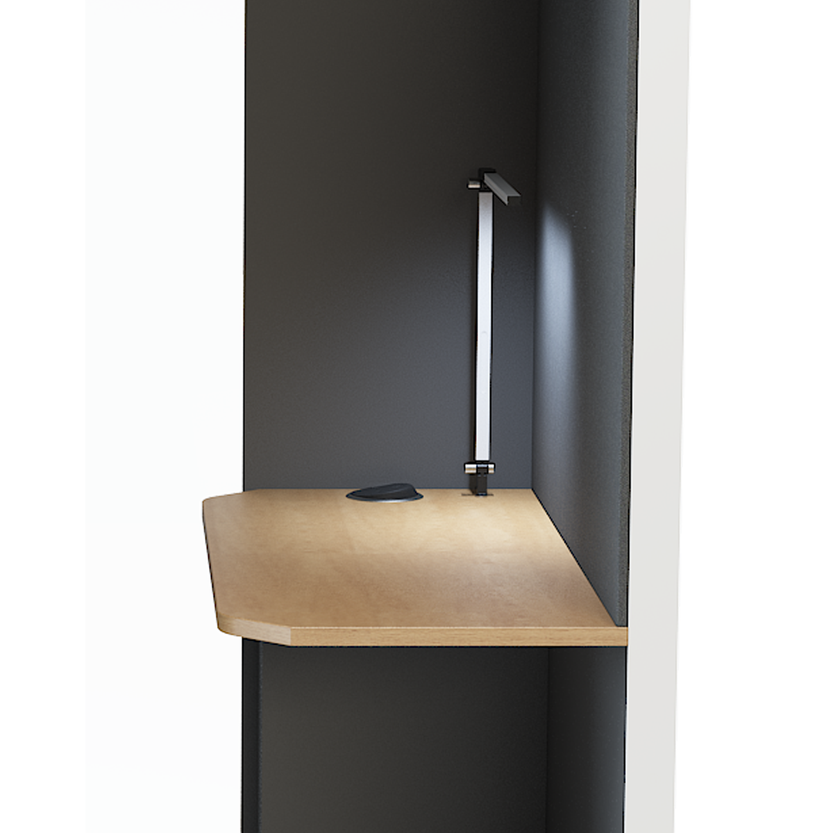 Shelf for devices with standard 4 power outlets