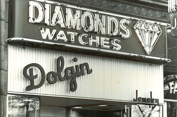 Diamond Watches, Aaron Dolgin's original jewelry shop