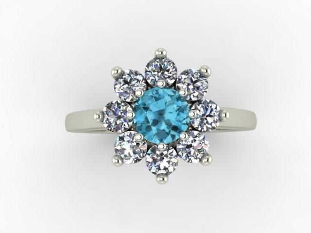 Zircon and diamond ring