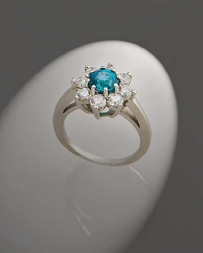 Zircon diamond ring