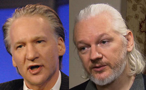 Bill Maher, Julian Assange, virtual dopplegangers.