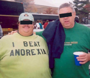 e.g., two obese guys