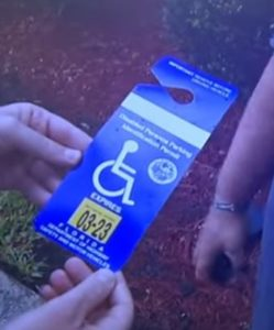 Suspected fake handicapped_tag.