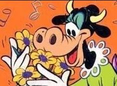 We think Chelsea looks like Clarabell Cow.