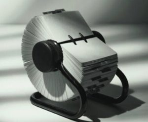 When Rolodex was a thing.