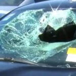 Example of damage to a car.