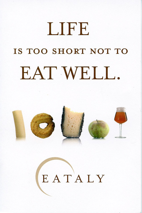 Postcard from Eataly.