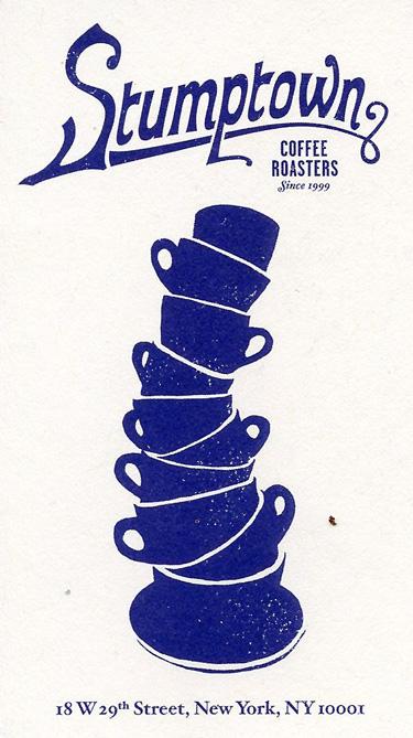 Business card from Stumptown Coffee Roasters.