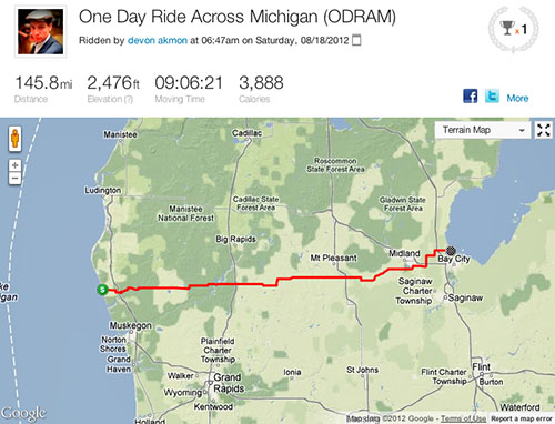 Image of the ODRAM route