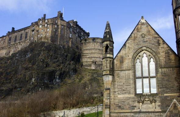Image of Edinburgh Castle from Grassmarket