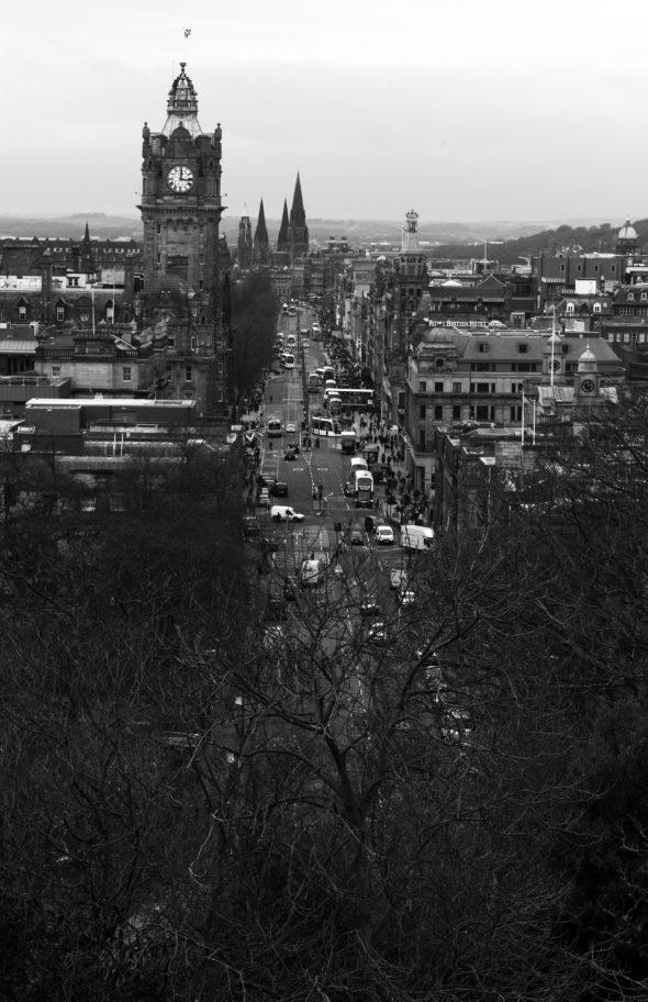 View of downtown Edinburgh from Calton Hill