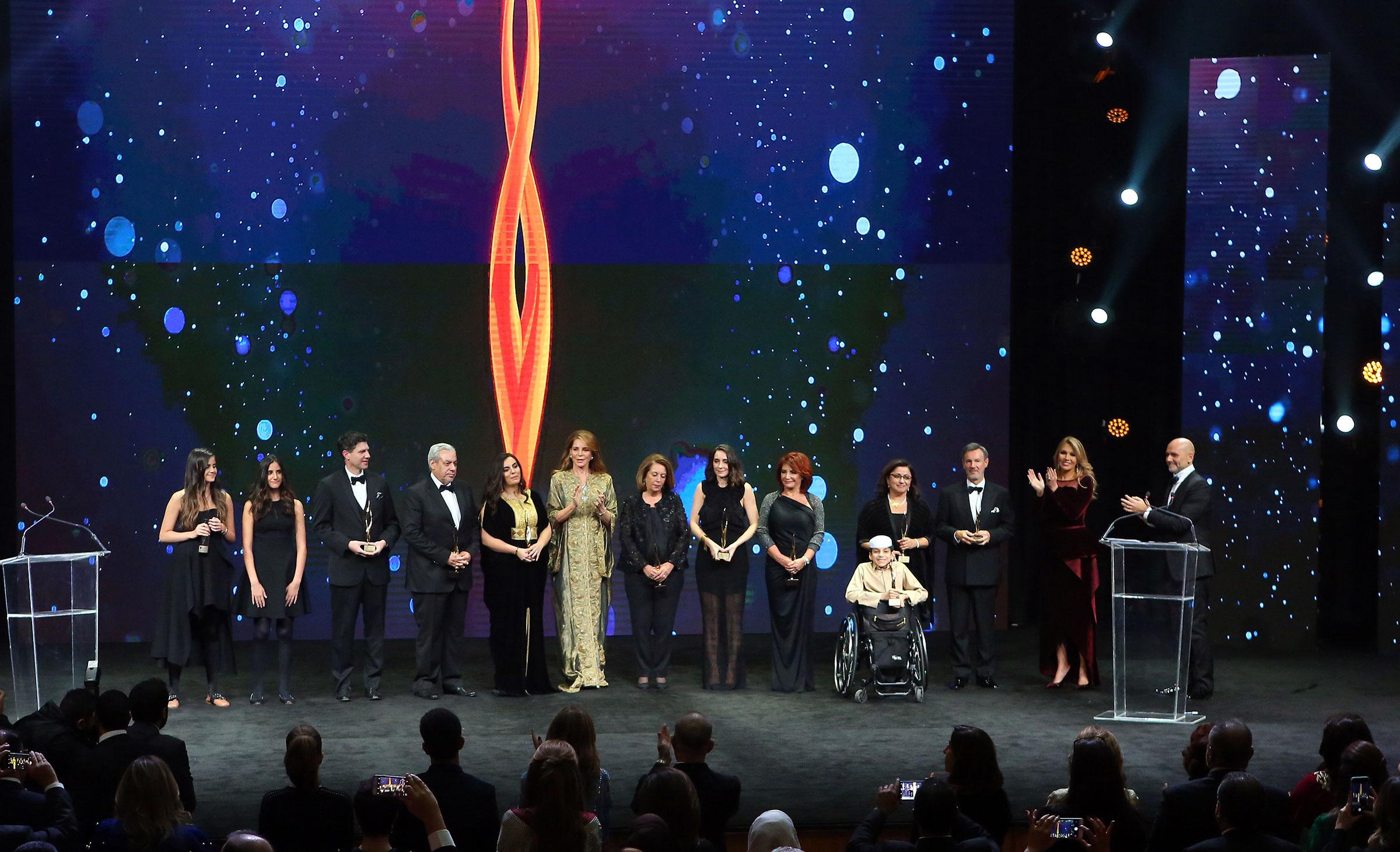 TAKREEM Awardees with HM Queen Noor