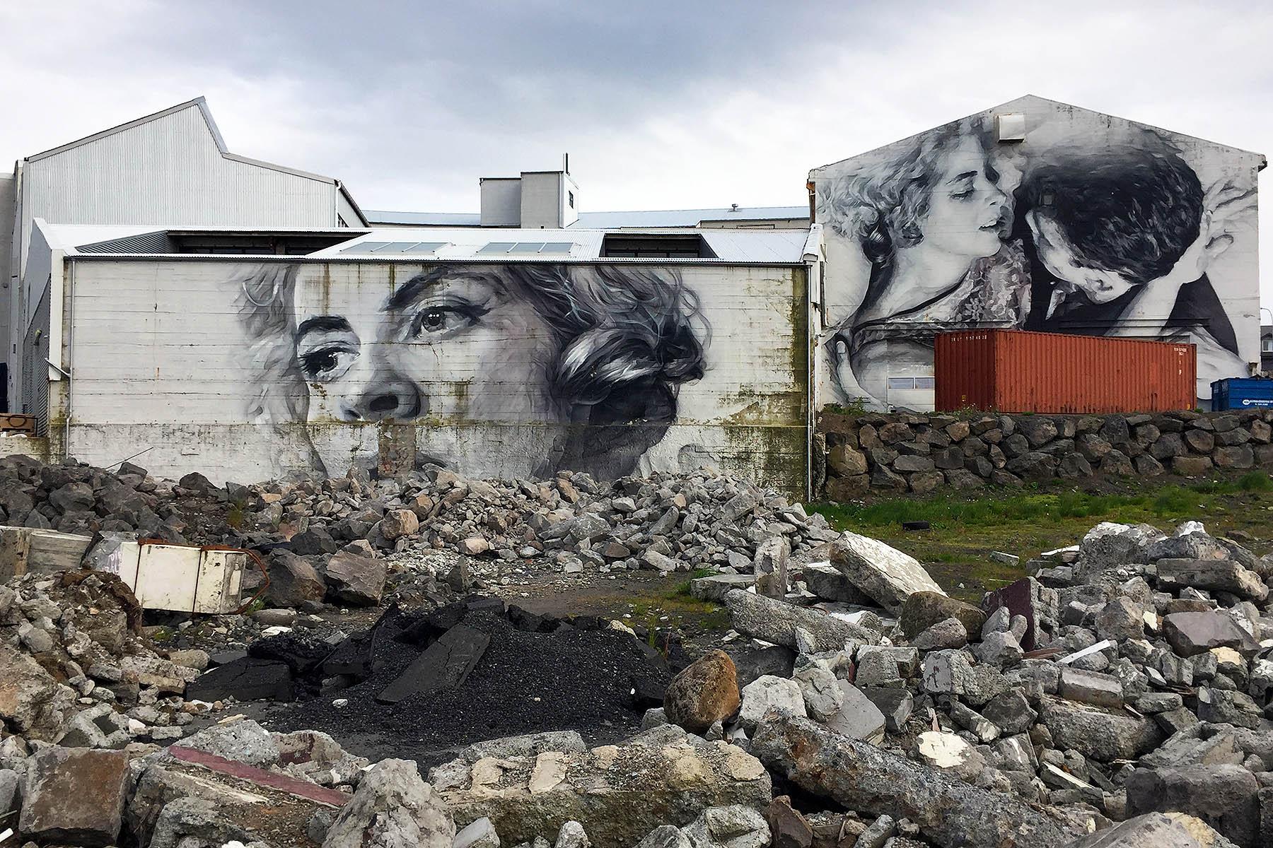 Mural in Reykjavík