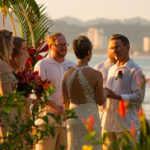 Wedding in front of the ocean at Club del Mar